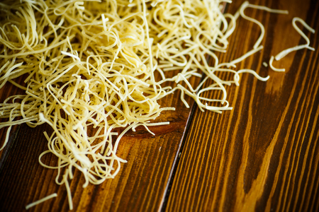 Homemade egg noodles Stock Photo