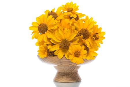 黄色のヒナギクの花束 写真素材