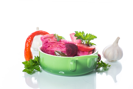 Marinated cabbage with beets