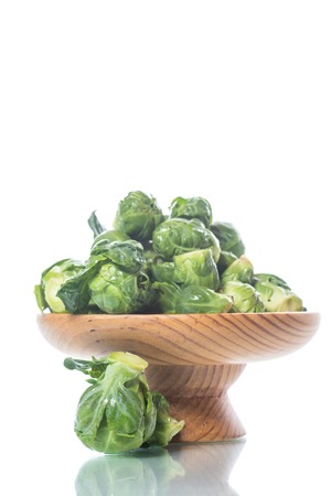 Brussels sprouts close-up on a white background