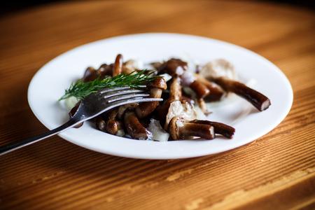 Marinated mushrooms with onions