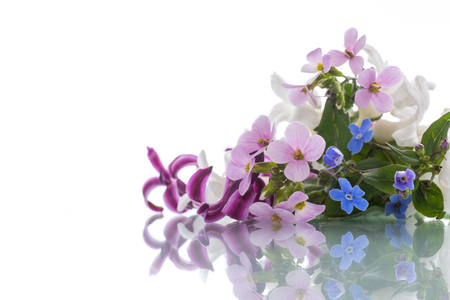 beautiful bouquet of spring flowers