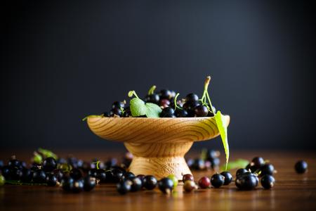 ripe berries black currants