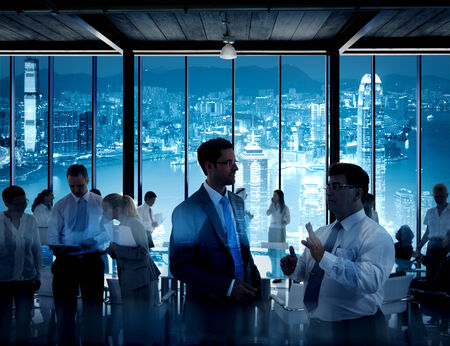 Bedrijfs Mensen die in Hong Kong Stockfoto