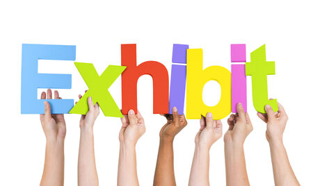 art exhibition: Multi-Ethnic Group Of People Holding The Word Exhibit