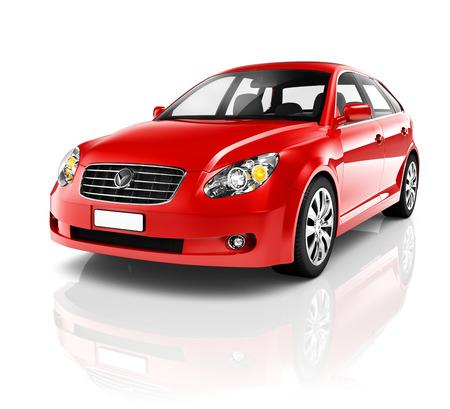 3D Red Sedan Car photo