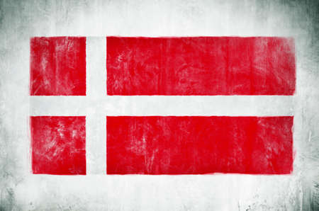 Painting Of The National Flag Of Denmark
