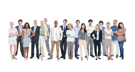 Multietnisk grupp av olika människor