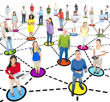 Group Of Multi-Ethnic People Social Networking photo