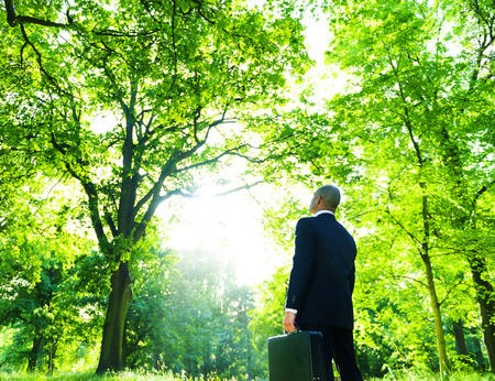 Green Business Man in Nature photo