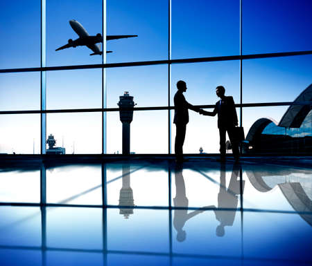 Agreement of Two Businessmen at The Airport photo