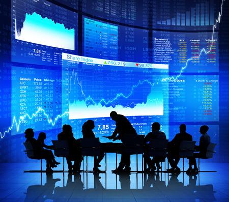 bolsa de valores: Reunión de negocios
