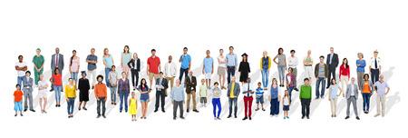 Grote groep multi-etnische mensen met verschillende beroepen Stockfoto