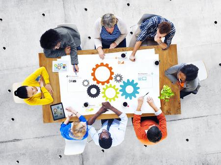 Groupe des affaires Meeting People propos Travail d'équipe