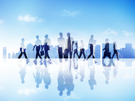 Abstract Image of Business People photo