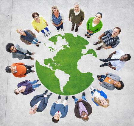 Groep van Muliethnic People Around the World Stockfoto