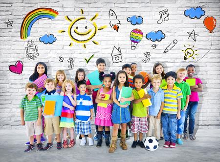 Enfants intelligents Banque d'images - 28792716