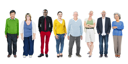 Group of Multiethnic Diverse Colorful People Stock fotó