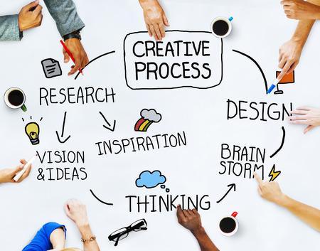 pensamiento creativo: Hombres de negocios y Creatividad Concepto Foto de archivo