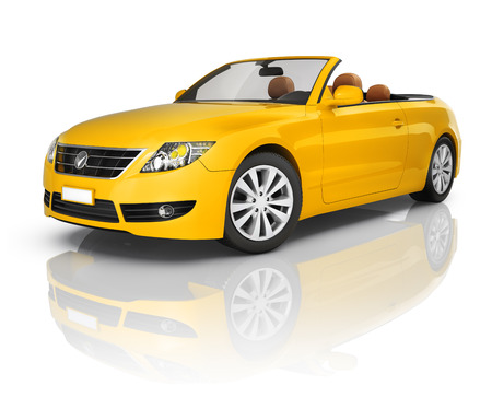 Orange Convertible Car