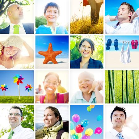 Portrait of Multiethnic Diverse Cheerful People photo