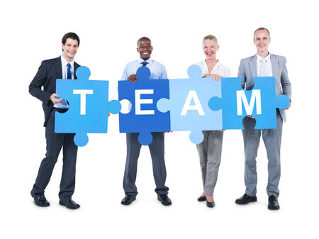 Business People Holding Team Sign photo