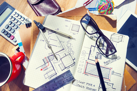 architectural studies: Designer Stock Photo