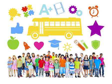 Group of Children and Education Concept photo