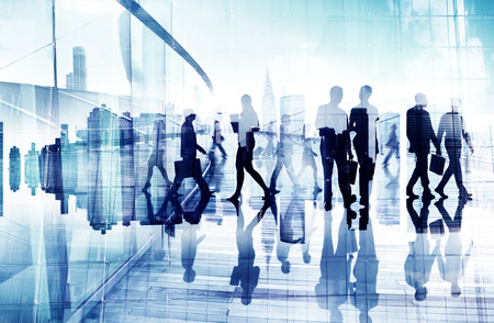 Abstract Image of Business People Imagens