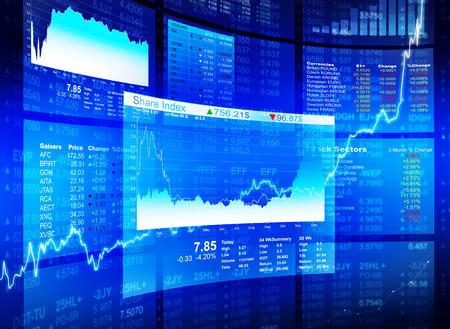 Diagrammes financiers Banque d'images - 28863542