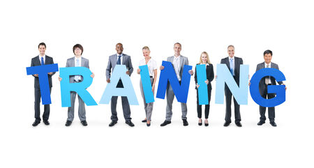 Business People Holding the Word Training  photo