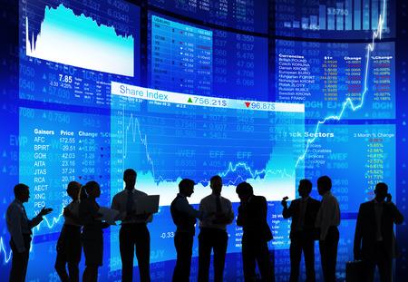 Stock Market Diskussion Standard-Bild - 29160248