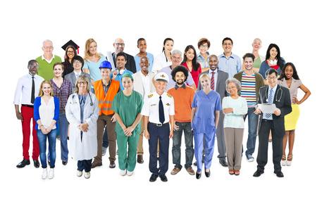 Groep van multi-etnische gemengde Beroepen Mensen Stockfoto