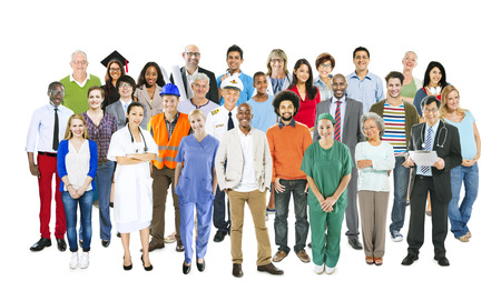 Groupe de multiethniques Professions mixtes gens