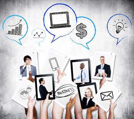 Mensen uit het bedrijfsleven communicatie en groei