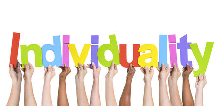 wor: Multiethnic Group of Hands Holding Individuality