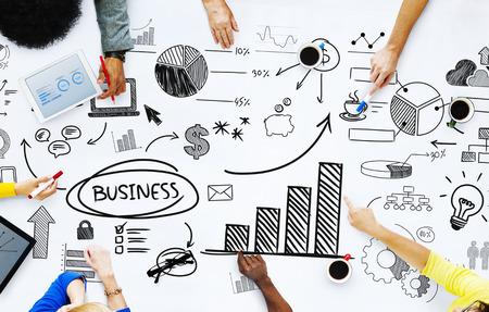 planificacion: La gente de negocios que trabajan con las cuestiones de negocios
