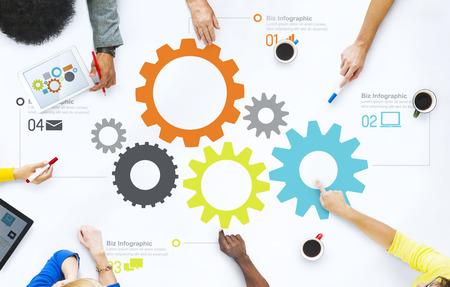 Groep bedrijfs mensen bespreken Teamwork