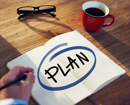 Businessman with Plan Concept  photo