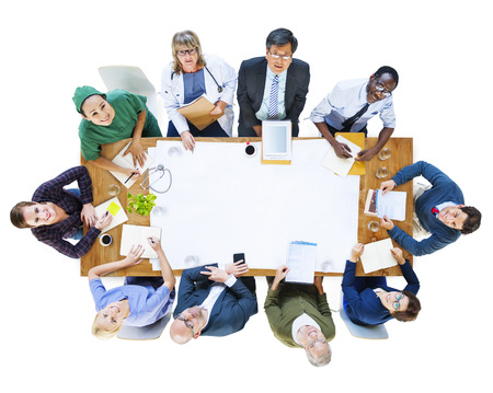diversity people: Group of People with Various Occupations in a Meeting Stock Photo