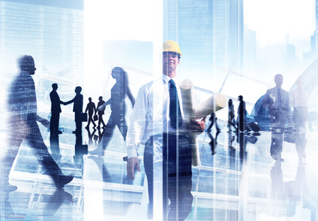Abstract Image of Professional Business People  photo