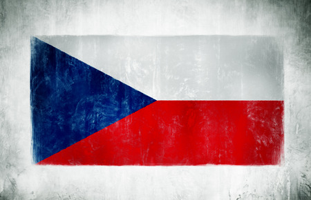 Illustration And Painting Of The National Flag Of Czech Republic