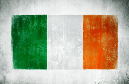 ireland flag: Illustration and Painting Of The National Flag Of Ireland Stock Photo