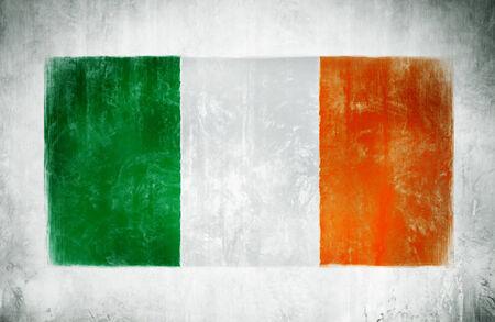 irish ethnicity: Illustration and Painting Of The National Flag Of Ireland Stock Photo