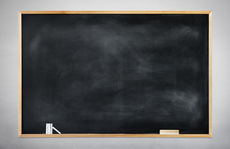 building feature: Blank Black Chalkboard on a Gray Background