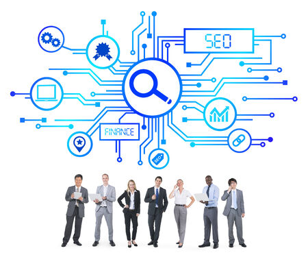 Business People and SEO Concepts photo