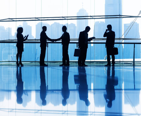 business agreement: Group of business people the office. Stock Photo