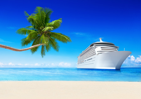 vacation destinations: Spectacular view with cruise ship