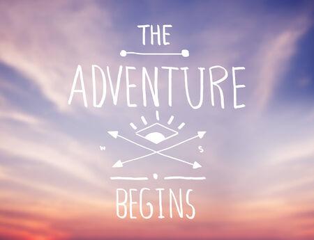 Cloudscape with Adventure Concept