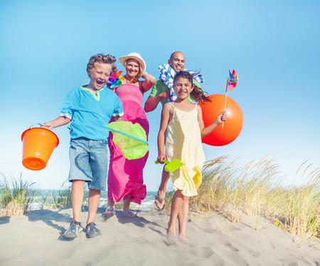 Cheerful Family Bonding by the Beach photo